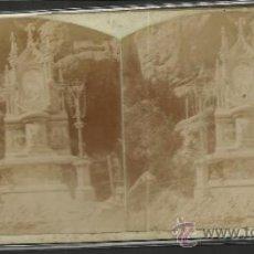 Fotografía antigua: MONTSERRAT - 1º MISTERIO DE GOZO CAMINO DE LA CUEVA -(F-333). Lote 35814164