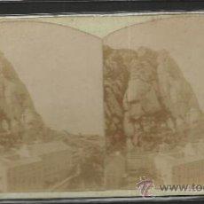 Fotografía antigua: MONTSERRAT - VISTA DEL MONASTERIO TOMADA DESDE FRAY GARI -(F-336). Lote 35814261
