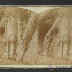 Fotografía antigua: MONTSERRAT - 5º MISTERIO DE GLORIA CAMINO DE LA CUEVA - (F-322). Lote 35814614
