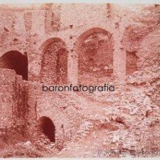 Fotografía antigua: SANT PERE DE RODA, PROV. GIRONA, 1915'S. CRISTAL POSITIVO ESTEREO 6X13 CM.. Lote 35862338