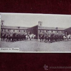 Old photograph - Fotografía estereoscopica regalo de la revista Hispania. Dragones de Montesa - 36527219