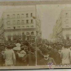 Old photograph - ESTEREOSCOPICA, MADRID, LOS INGENIEROS MILITARES EL 2 DE MAYO POR LA PUERTA DEL SOL, AÑ0 1905 - 36563701