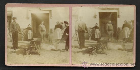 LOTE 4 FOTOS ESTEREOS DE SAN BOY MATANSA DEL PORCH- VER FOTOS ADIC. MED.8X17 CM. - (F-345) (Fotografía Antigua - Estereoscópicas)