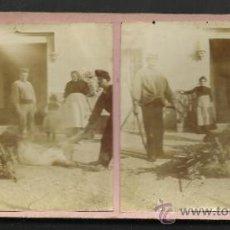 Fotografía antigua: LOTE 4 FOTOS ESTEREOS DE SAN BOY MATANSA DEL PORCH- VER FOTOS ADIC. MED.8X17 CM. - (F-345). Lote 36617042