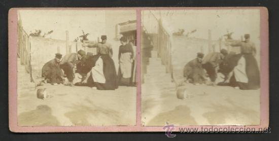 Fotografía antigua: LOTE 4 FOTOS ESTEREOS DE SAN BOY MATANSA DEL PORCH- VER FOTOS ADIC. MED.8X17 CM. - (F-345) - Foto 3 - 36617042