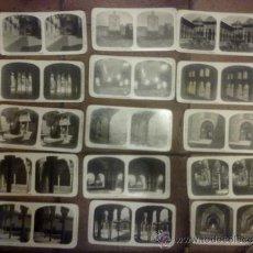 Fotografía antigua: COLECCIÓN COMPLETA DE 24 ESTEREOSCÓPICAS DEL TURISMO PRÁCTICO. GRANADA Y ALHAMBRA 17 X 8 CM.. Lote 36868513