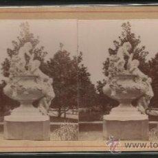 Fotografía antigua: BARCELONA - EL PARQUE - FOTO ESTEREOSCOPICA - (F-365). Lote 37494150