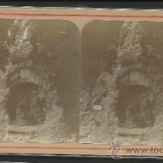 Fotografía antigua: MONTSERRAT - PRIMER MISTERIO DE DOLOR - FOTO ESTEREOSCOPICA - (F-371). Lote 37494243