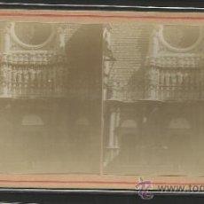 Fotografía antigua: MONTSERRAT - PORTADA DE LA IGLESIA - FOTO ESTEREOSCOPICA - (F-372). Lote 37494264