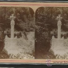 Fotografía antigua: MONTSERRAT - FOTO ESTEREOSCOPICA - (F-375). Lote 37494313