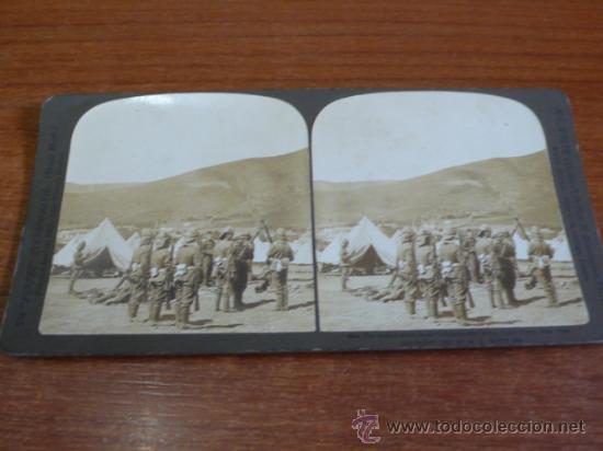 FOTOGRAFÍA ESTEREOSCÓPICA. EL RELEVO DE LA GUARDIA. GUERRA DE LOS BOER. SUDÁFRICA CAPE TOWN. 1901. (Fotografía Antigua - Estereoscópicas)