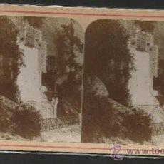 Fotografía antigua: MONTSERRAT - PRIMER MISTERIO DE GLORIAS - FOTO ESTEREOSCOPICA - (F-373). Lote 37494549