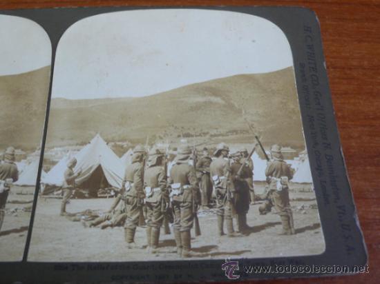 Fotografía antigua: FOTOGRAFÍA ESTEREOSCÓPICA. EL RELEVO DE LA GUARDIA. GUERRA DE LOS BOER. SUDÁFRICA CAPE TOWN. 1901. - Foto 2 - 37492093