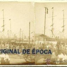 Fotografía antigua - (ES-720)FOTOGRAFIA ESTEREOSCOPICA DE BARCELONA-PUERTO - 38094058