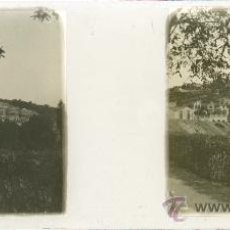 Fotografía antigua: BARCELONA. 'ALREDEDORES DE BARCELONA'.VISTA ESTEREOSCOPICA SOBRE CRISTAL 4,5X10,5CM.. Lote 38198609