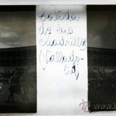 Fotografía antigua: PLACA ESTEREOSCOPICA CRISTAL - TOROS VALLADOLID - SALIDA CUADRILLAS. Lote 38422184