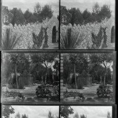Fotografía antigua: SANTMENAT, 1920. 9 CRISTALES NEGATIVOS ESTEREO 6X123 CM. . Lote 39613898