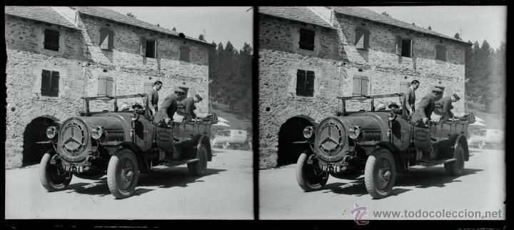 UN COCHE, 1920'S. CRISTAL NEGATIVO ESTEREREO 6X13 CM. (Fotografía Antigua - Estereoscópicas)