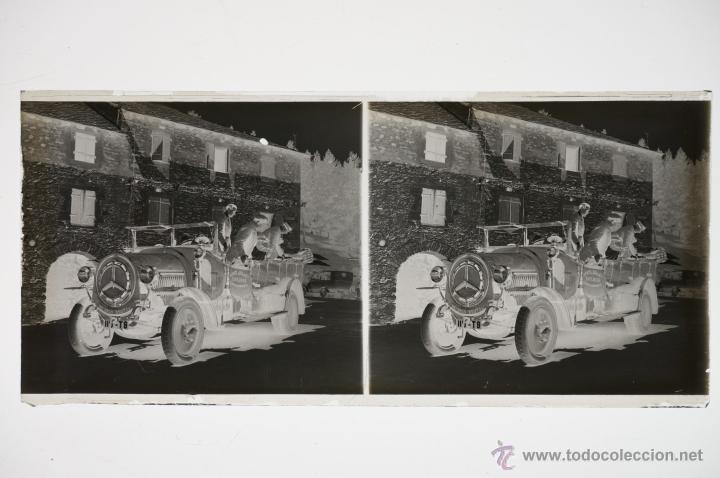Fotografía antigua: un coche, 1920s. Cristal negativo esterereo 6x13 cm. - Foto 2 - 39666565