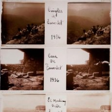 Fotografía antigua: TAVERTET, 9 CRISTALES POSITIVOS ESTEREO 10,4X4,3 CM.. Lote 40073929