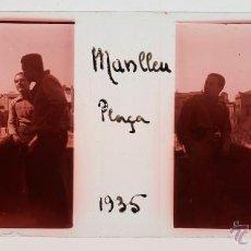 Fotografía antigua - MANLLEU, cristal positivo estereo 10,4x4,3 cm. - 40084404