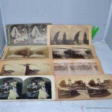 Fotografía antigua: LOTE 8 FOTOS, FOTOGRAFIAS ESTEREOSCOPICAS ORIGINALES. SIGLO XIX..PAISAJES/RETRATO... Lote 40075651