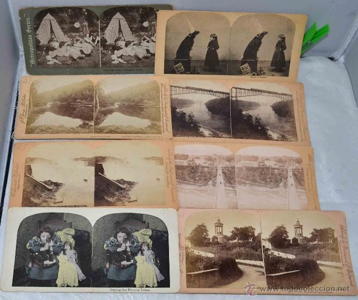 Fotografía antigua: LOTE 8 FOTOS, FOTOGRAFIAS ESTEREOSCOPICAS ORIGINALES. SIGLO XIX..PAISAJES/RETRATO.. - Foto 2 - 40075651