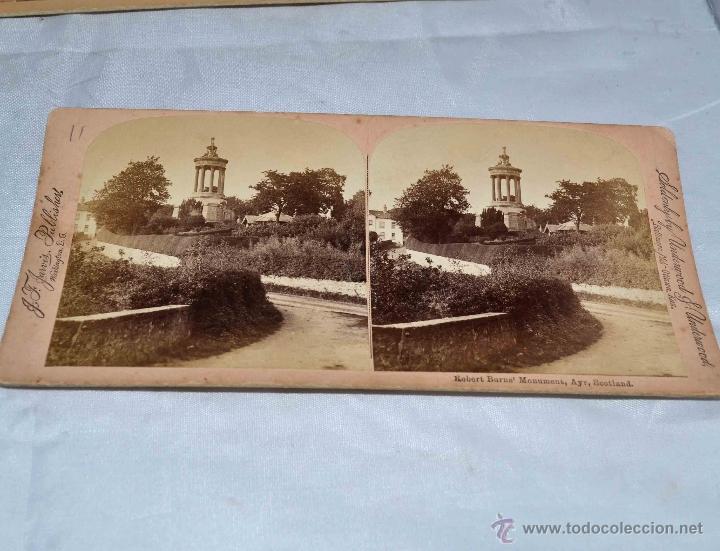 Fotografía antigua: LOTE 8 FOTOS, FOTOGRAFIAS ESTEREOSCOPICAS ORIGINALES. SIGLO XIX..PAISAJES/RETRATO.. - Foto 4 - 40075651