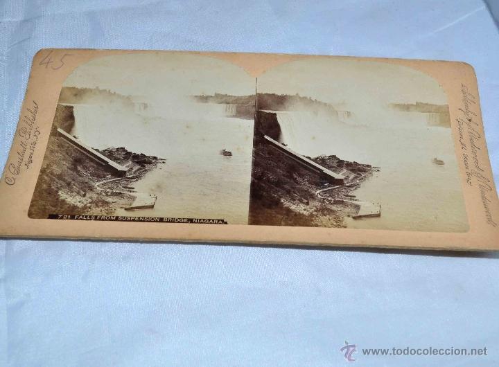Fotografía antigua: LOTE 8 FOTOS, FOTOGRAFIAS ESTEREOSCOPICAS ORIGINALES. SIGLO XIX..PAISAJES/RETRATO.. - Foto 5 - 40075651
