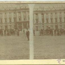 Fotografía antigua: MADRID - PLAZA DE ARMAS - (F-487). Lote 40088959