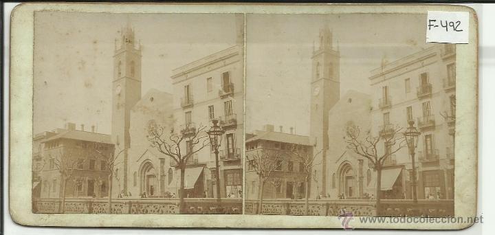BARCELONA - IGLESIA DE LA CONCEPCION - (F-492) (Fotografía Antigua - Estereoscópicas)