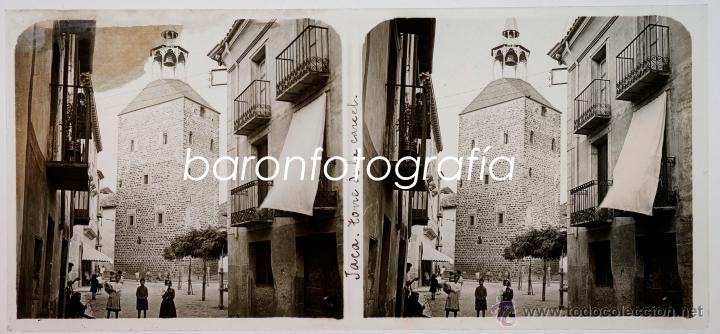 JACA, TORRE DE LA CATEDRAL, AÑO 1911. CRISTAL POSITIVO ESTEREO 6X13 CM. (Fotografía Antigua - Estereoscópicas)