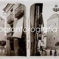 Fotografía antigua: JACA, TORRE DE LA CATEDRAL, AÑO 1911. CRISTAL POSITIVO ESTEREO 6X13 CM.. Lote 40184589