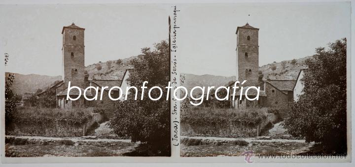JACA, SANTA CRUZ DE SEROS, AGOSTO DEL AÑO 1911. CRISTAL POSITIVO ESTEREO 6X13 CM. (Fotografía Antigua - Estereoscópicas)