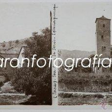Fotografía antigua: JACA, SANTA CRUZ DE SEROS, AGOSTO DEL AÑO 1911. CRISTAL POSITIVO ESTEREO 6X13 CM.. Lote 40185211