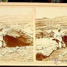 Fotografía antigua: ANTIGUA FOTO ESTEREOSCOPICA DE EL ESCORIAL - 18 X 8,5 CMS. FINALES XIX PRINCIPIOS XX. Lote 38239727