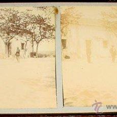 Fotografía antigua: ANTIGUA FOTO ESTEREOSCOPICA DE EL ESCORIAL - 18 X 8,5 CMS. FINALES XIX PRINCIPIOS XX. Lote 38239730