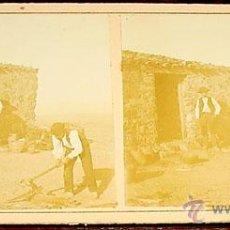 Fotografía antigua: ANTIGUA FOTO ESTEREOSCOPICA DE EL ESCORIAL - 18 X 8,5 CMS. FINALES XIX PRINCIPIOS XX. Lote 38239732