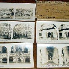Fotografía antigua: TOLEDO - 14 FOTOGRFIAS ESTEREOSCOPICAS - EL TURISMO PRACTICO - ALBERTO MARTIN 17X9 CM. COMPLETO CON. Lote 38239747