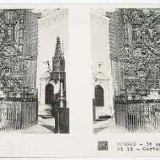 Fotografía antigua: ANTIGUA FOTO ESTEREOSCOPICA DE BURGOS. CARTUJA DE MIRAFLORES, IALTAR MAYOR IGLESIA - 3ª SERIE NUM. . Lote 38248284