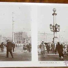 Old photograph - ANTIGUA FOTOGRAFIA ESTEREOSCOPICA DE BARCELONA - FOTOGRAFO CODINA - RELLEV - 1ª SERIE - PLAZA DE CAT - 38249869