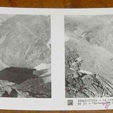 Fotografía antigua: ANTIGUA FOTO ESTEREOSCOPICA DE RIBAS NURIA - GERONA - COLECCION N. 2 - 1ª SERIE ED. RELLEV - N. 15.. Lote 38251937