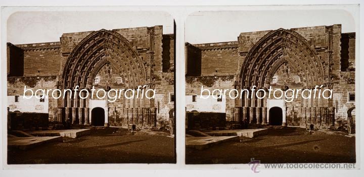 LLEIDA POSIBLEMENTE, 1910'S. CRISTAL POSITIVO ESTEREO 6X13 CM. (Fotografía Antigua - Estereoscópicas)