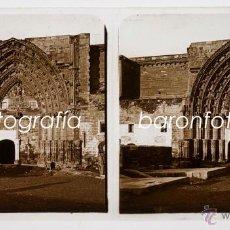 Fotografía antigua: LLEIDA POSIBLEMENTE, 1910'S. CRISTAL POSITIVO ESTEREO 6X13 CM.. Lote 40419762