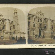 Fotografía antigua: CASTELLON - 2 - ESCUELAS PIAS - MED.8,5 X 17 CM - (F-518) . Lote 40804945
