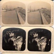 Fotografía antigua: 12 FOTOS ESTEREOSCOPICAS DE MALLORCA-SOLLER-DEYÁ (COLECCIÓN COMPLETA EL TURISMO PRACTICO).18 X 9 CM. Lote 40851175