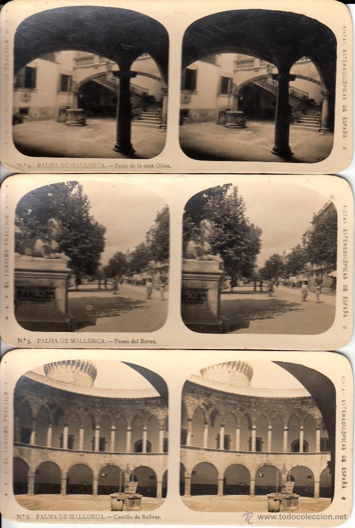 Fotografía antigua: 12 FOTOS ESTEREOSCOPICAS DE MALLORCA-SOLLER-DEYÁ (COLECCIÓN COMPLETA EL TURISMO PRACTICO).18 x 9 cm - Foto 3 - 40851175