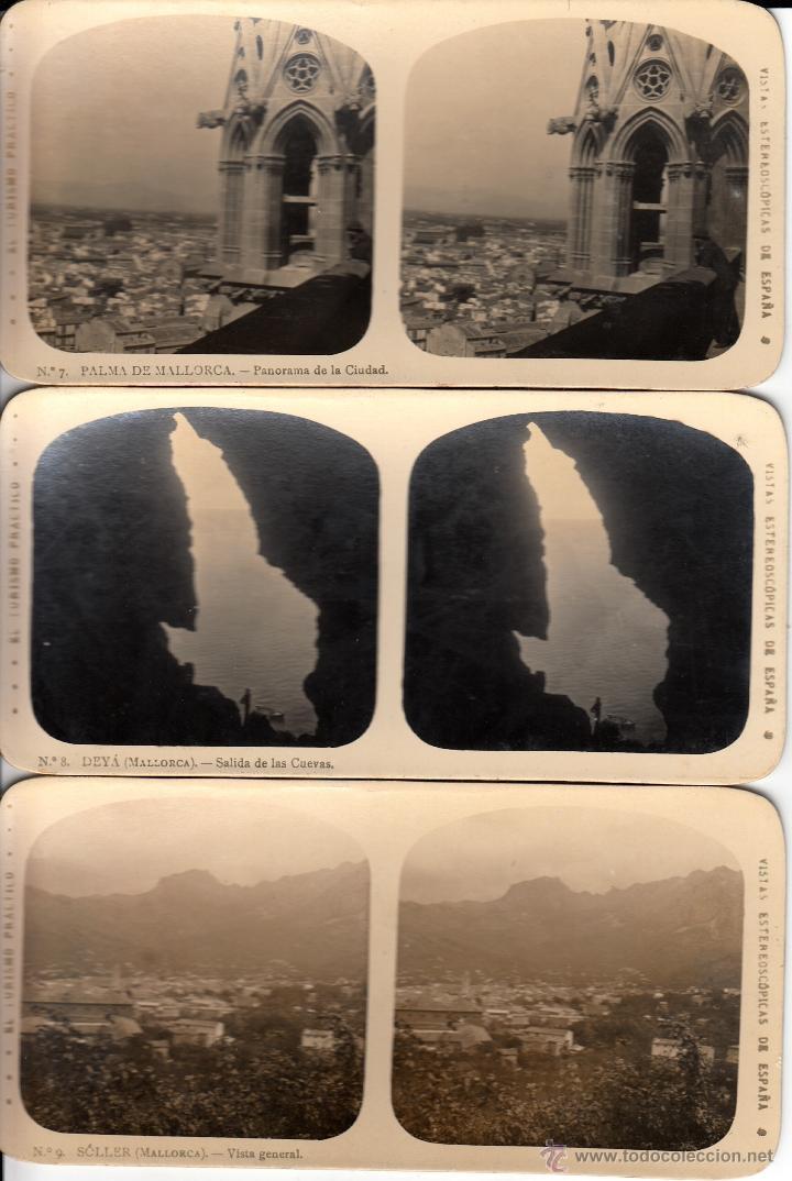 Fotografía antigua: 12 FOTOS ESTEREOSCOPICAS DE MALLORCA-SOLLER-DEYÁ (COLECCIÓN COMPLETA EL TURISMO PRACTICO).18 x 9 cm - Foto 5 - 40851175