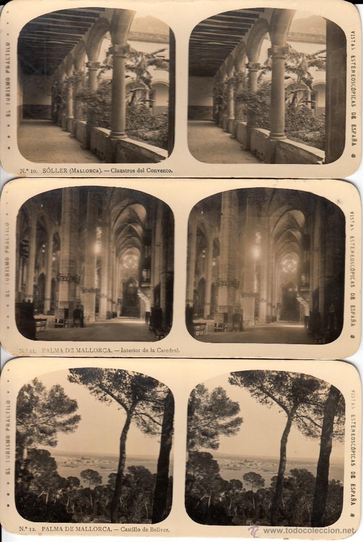 Fotografía antigua: 12 FOTOS ESTEREOSCOPICAS DE MALLORCA-SOLLER-DEYÁ (COLECCIÓN COMPLETA EL TURISMO PRACTICO).18 x 9 cm - Foto 7 - 40851175