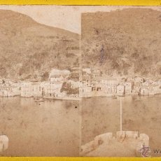 Fotografía antigua: FOTO ESTEREOSCOPICA ALBUMINA DE RENTERIA (GUIPUZCOA) .18X9 CM. Lote 40854617